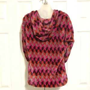 Vera Bradley Small Shirt Hood Pullover Pink Purple